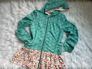 Matilda Jane Girls 16 Hansel Hoodie Teal Green Long Sleeve Hooded Jacket