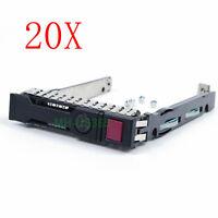"20PCS For HP G8 G9 Gen9 651687 SFF 2.5"" SAS SATA HDD Tray Caddy 653955 DL380p G9"