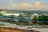 CHOP1215 100% handmade painted ocean seascape  oil painting art on canvas
