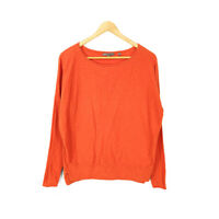 Vince Sweater Pullover Orange Red Women's XS Long Sleeve Knit Crew Neck Cotton