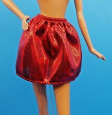 """Barbie Clothes Fashionistas """"Love That Lace"""" Doll Red Metallic Mini Skirt"""