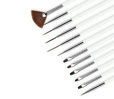 12PCS Manicure Set Pencel Dotting Painting Design Acrylic Nail Art Brush