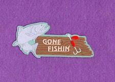 GONE FISHIN' die cuts scrapbook cards