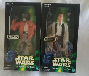 "(2) Hasbro Star Wars Power Of The Force 12"" Action Figures (NIB) 1998/99"