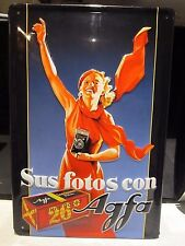 AGFA FILM :EMBOSSED(3D) METAL ADVERTISING SIGN 30X20cm PHOTOGRAPHY /CAMERA