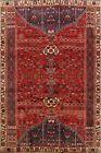 Vintage Tribal Hand-Knotted Kashkoli Area Rug 6x9 Traditional Oriental Carpet