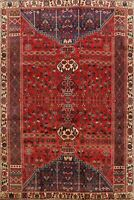 Vintage Tribal Hand-Knotted Kashkoli Area Rug 6x9 Traditional Oriental Carpet