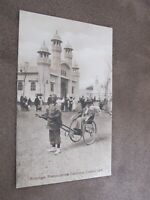 1908 Franco-British Exhibition Postcard - Rickshaw with customer