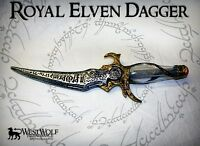 ROYAL ELVEN DAGGER -- sca/larp/medieval/cosplay/lotr/elf/blade/knife/sword - NEW