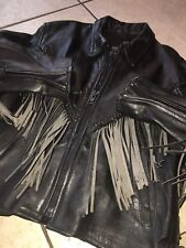 BIKERS LEATHER STUFF Womens M Leather Fringe THINSULATE Lined Motorcycle Jacket