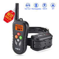 Dog Training Shock Collar With Remote Rechargeable Waterproof 600 Yards 4 Modes