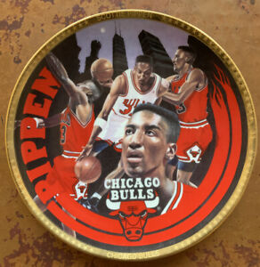 Limited Edition 1993 NBA Scottie Pippen Chicago Bulls Collectible - Plate # 1843