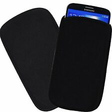 Black Neoprene Pouch Sleeve Case for Samsung Galaxy S8 Plus / LG G7 / LG V30