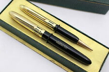 VERELYTE STILNOVA-Set-Fountain Pen-CELLULOID-14K GOLD NIB+PENCIL-30's-NEW in BOX