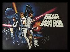 More details for dave prowse darth vader signed framed star wars new hope full size movie poster