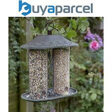 Peckish Secret Garden Dual Decorative Metal Seed Wild Bird Hanging Feeder