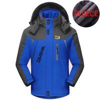 Men Hooded Jacket Winter Waterproof Warm Velvet Outdoor Sport Fishing Outwear