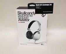 Skullcandy Supreme Sound Aviator Wired Headphones, White Chrome - USED