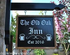 Swinging Wooden Sign Personalised Hanging Sign And Bracket Pub Man Cave Shed