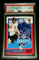 PSA 9 POP 15 PATRICK MAHOMES II SP RC RED NFL DRAFT ROOKIE *1 HIGHER *2017 Score