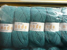 WENDY MODE CHUNKY KNITTING 50% MERINO WOOL YARN TEAL GREEN 5X100G SHADE 212