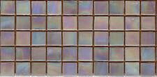 50pcs NP11 Beige Natura Pearl Glass Mosaic Tiles Iridescent 15x15x4mm Paperfaced