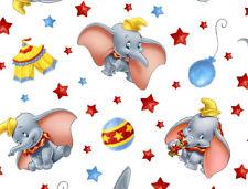 FAT QUARTER  DISNEY DUMBO FABRIC  THE FLYING ELEPHANT  CIRCUS  100% COTTON  FQ