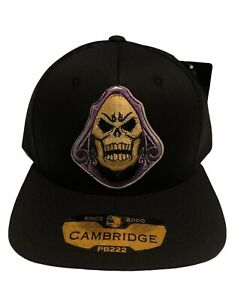 THE REAPER SKULL Trucker Hat Embroidered Patch Cap Music Rock Band Black Retro
