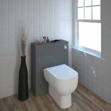 Bathroom Cloakroom 600mm Mercury Grey Back to Wall Unit with-out Toilet