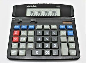 VICTOR Solar 1200-4 Business Desktop Calculator 12-Digit LCD 1200-4