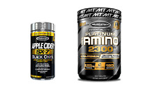 2- PACK MuscleTech AMINO 2300, 320 tabs + APPLE CIDER SX-7 Weight Loss 150 tabs