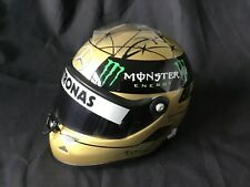 Michael  Schumacher Spa 2011 helmet 1/2 - GOLD 20 Years F1 mib - Mercedes