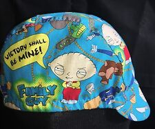 CYCLING CAP STEWIE  FAMILY GUY 100% COTTON PRINT ONE  SIZE OR ANY SIZE HANDMADE