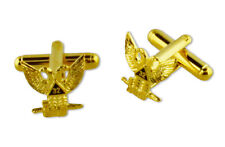 Scottish Rite 32nd Degree Wings Up Masonic Cufflinks. Gold tone with color