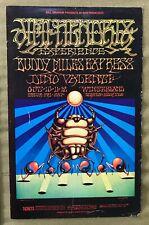 RARE JIMI HENDRIX EXPERIENCE WINTERLAND '68 POSTER~BUDDY MILES~VALENTI~2nd PRINT