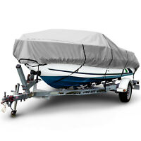 "Boat Cover 1200D Waterproof V-Hull Center Console Boat Beam Width 106"" 16'-26' L"