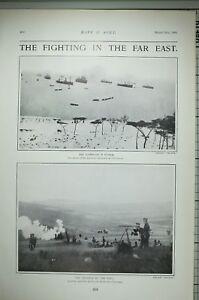 1904 PRINT CAMPAIGN IN KOREA ARRIVAL JAPANESE TRANSPORT CHE-NAN-PO YALU ADVANCE