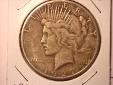 1927-P Peace Silver Dollar #6- No Reserve - XF