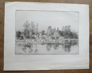 Antique Etching 1911 signed by Charles. J. Watson.  Norwich School.