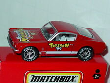 Matchbox 1999 TOY SHOW 1965 65 FORD MUSTANG FASTBACK -Red, MINT IN BOX