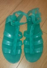 Girls New M&S Turquoise  Summer/ Holiday / Jelly Shoes / Sandals Size 5 Adult