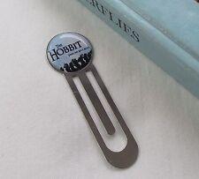 Handmade Silvertone Clip Over Page Bookmark - The Hobbit / Bilbo - Gift Idea