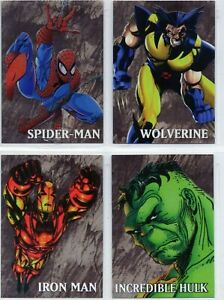 Marvel Gold     4 Card Chase Set   Spiderman Wolverine Iron-Man   Hulk