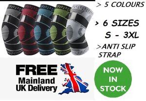 Knee Support Adjustable Brace Compression Sleeve Arthritis Running Gym Sports UK