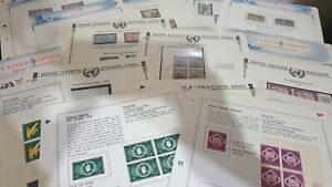 United Nations Selection of Stamps on 18 Album Pages #3441