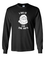 Men's I Do It For The Ho's T Shirt Christmas Xmas T-shirt Tee Santa Claus Gift
