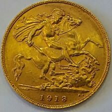 More details for 1913 george v half 22ct gold sovereign  my ref.t85b