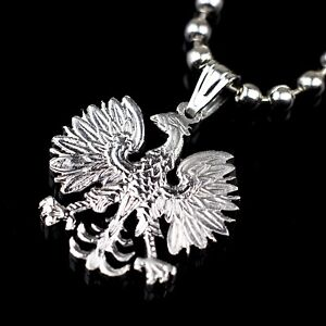 Poland Crowned Eagle Rzech Pospolita 20 zlotych Cut Coin Pendant with Necklace.