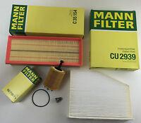 MANN-FILTER Set Filtri Filtro olio, Aria innenraumfi. ablassch. A3 8P 1 1.9 TDI