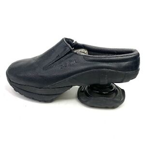 Z Coil Taos Slip On Spring Shoes Black Leather Mule Clog Women's Size 9